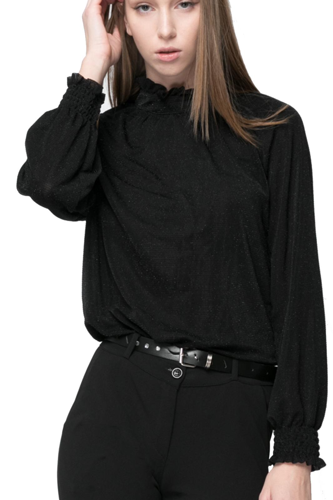Μπλούζα Lurex με Όρθιο Γιακά