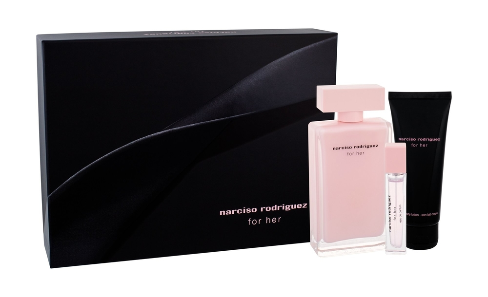 Narciso Rodriguez For Her Eau De Parfum 100ml Combo: Edp 100 Ml + Body Lotion 75 Ml + Edp 10 Ml