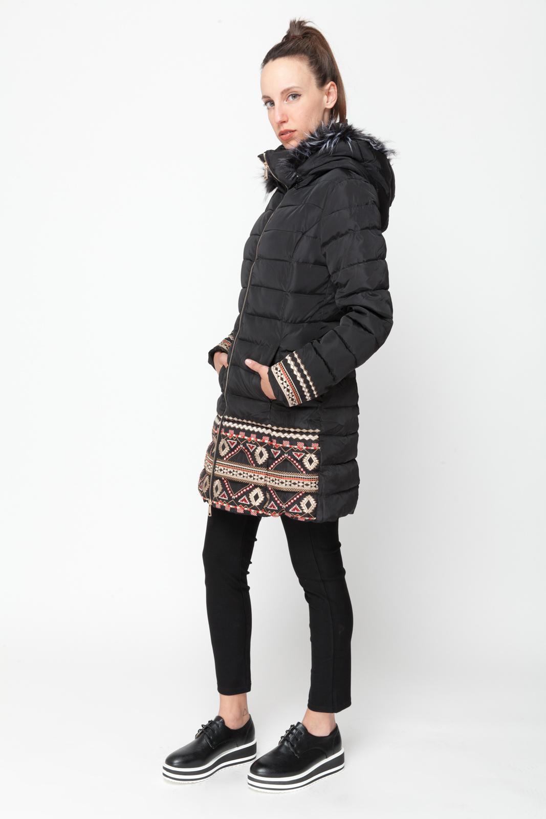 Καπιτονέ Μπουφάν με Κέντημα γυναικεία   πανωφόρια   μπουφάν   τζάκετ