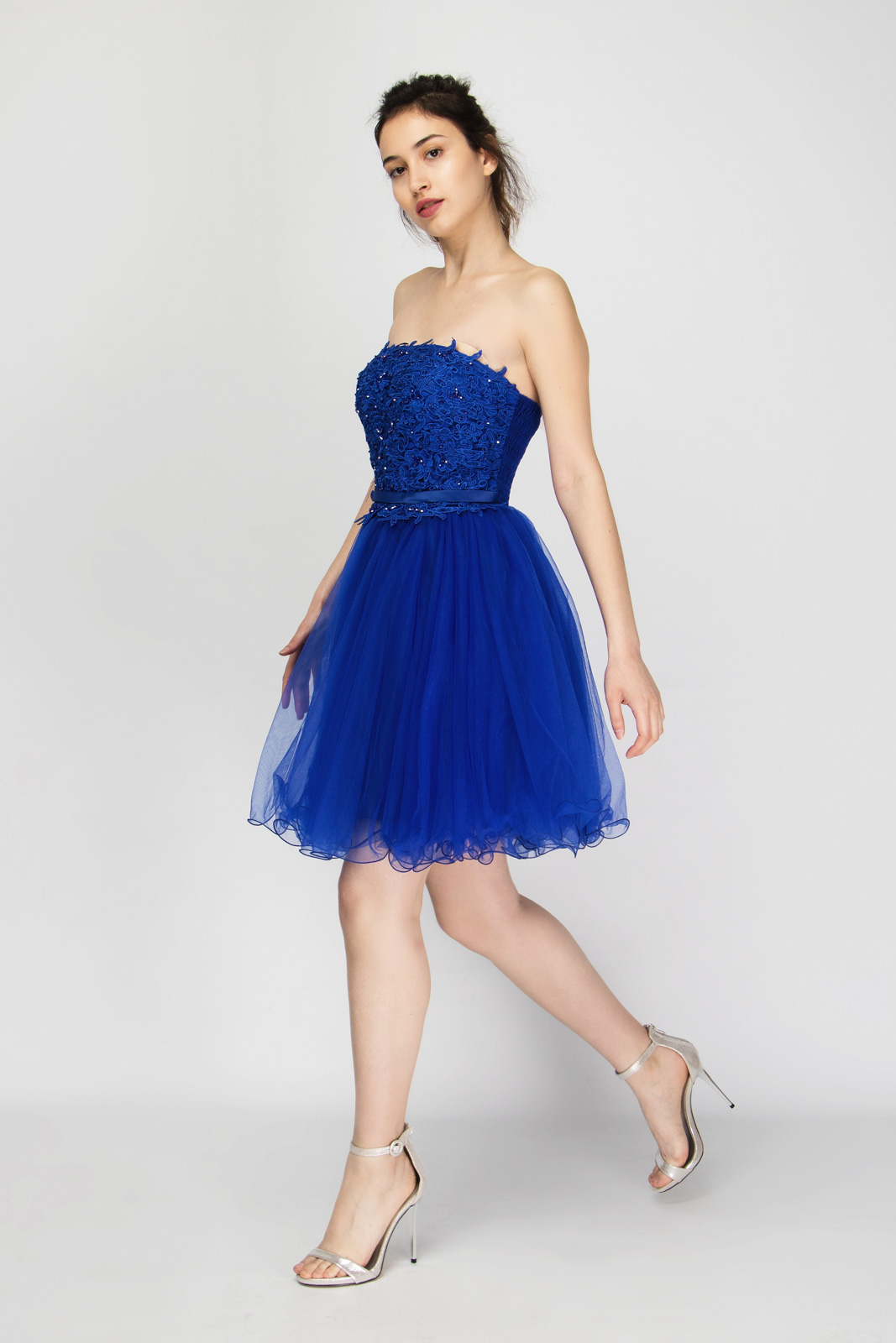 018d0e4a2fe2 Μίνι Φόρεμα Strapless με Εσάρπα