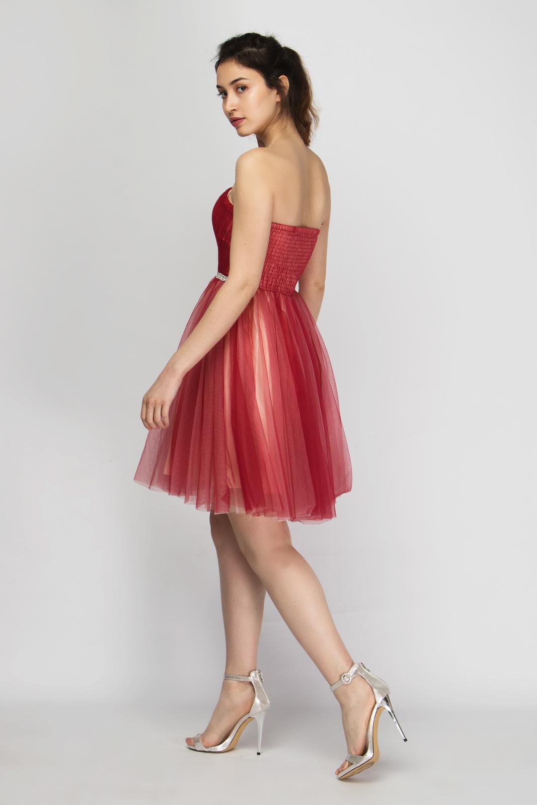 9f8334938bb4 Φόρεμα Στράπλες με Εσάρπα Διακοσμημένο με Στρας