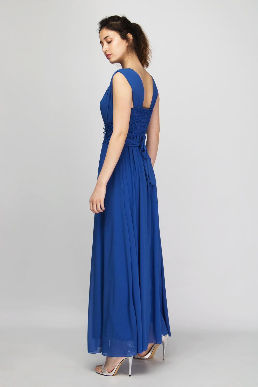 ccbc8d320b5b Μάξι Αμάνικο Φόρεμα Διακοσμημένο με Δαντέλα