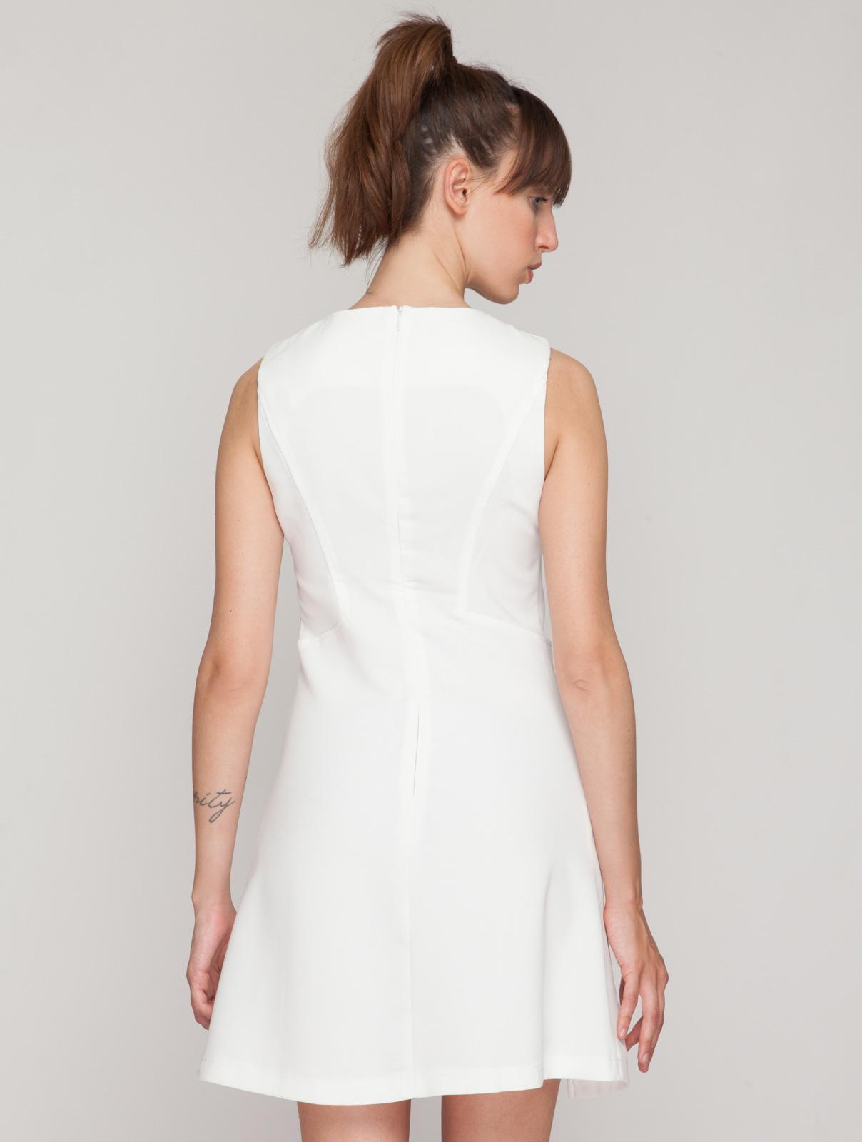 Φόρεμα Αμάνικο με Διάτρητο Σχέδιο γυναικεία   φορέματα   mίνι   μίντι