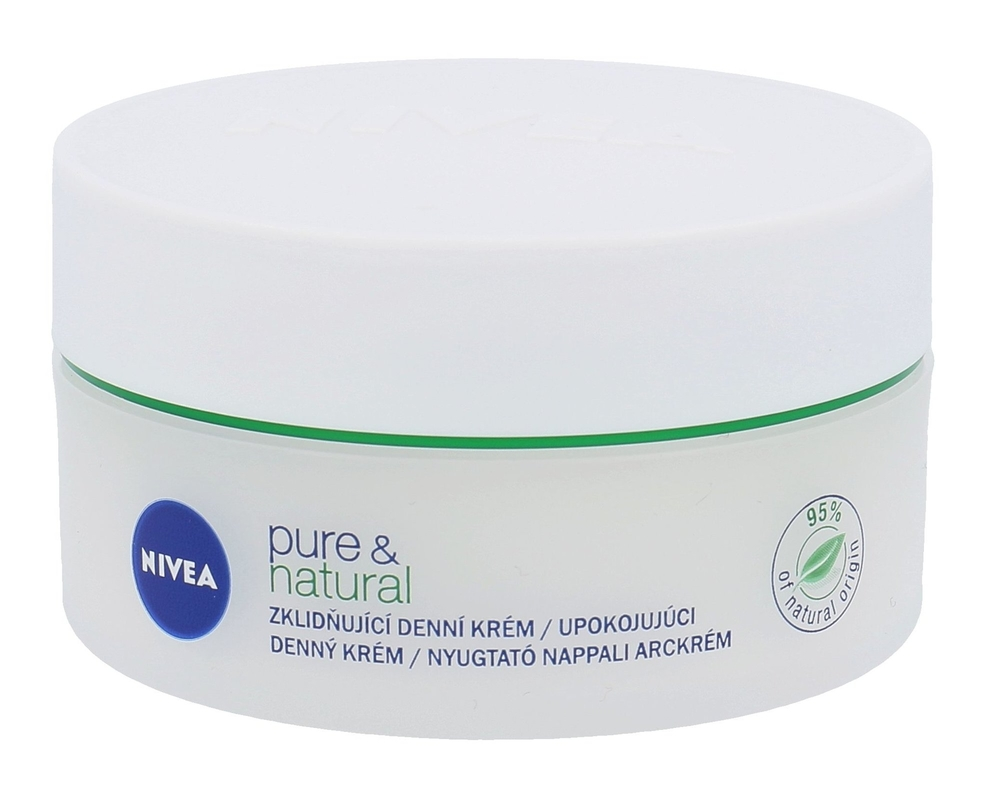 Nivea Pure & Natural Day Cream 50ml (Dry - For All Ages)