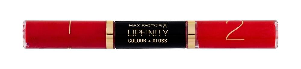 Max Factor Lipfinity Colour + Gloss Lipstick 2x3ml 640 Lasting Grenadine (Glossy)