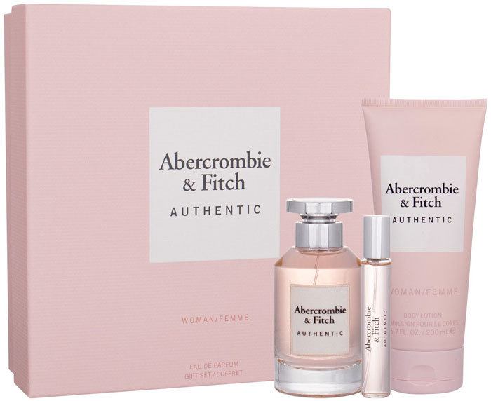 Abercrombie & Fitch Authentic Eau de Parfum 100ml Combo: Edp 100 Ml + Edp 15 Ml + Body Lotion 200 Ml