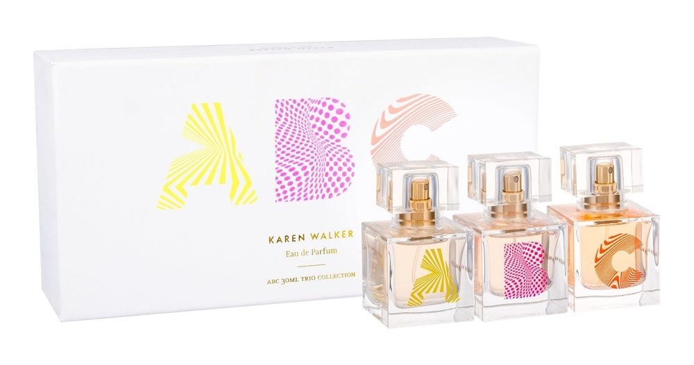 Karen Walker Abc Trio Set Eau De Parfum 3x30ml Combo: Edp B 30 Ml + Edp A 30 Ml + Edp C 30 Ml