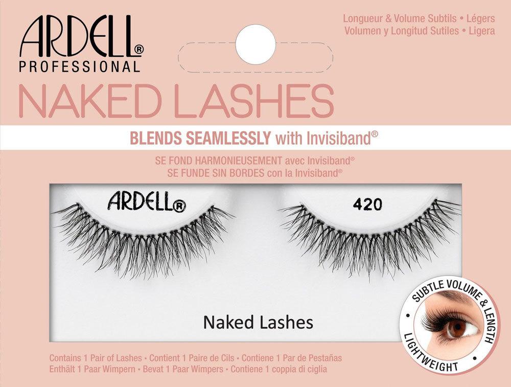 Ardell Naked Lashes 420 False Eyelashes Black 1pc