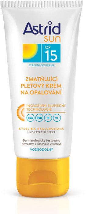 Astrid Sun Moisturizing Face Cream SPF15 Face Sun Care 75ml (Waterproof)