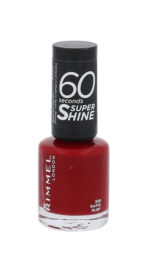Rimmel London 60 Seconds Super Shine Nail Polish 8ml 320 Rapid Ruby