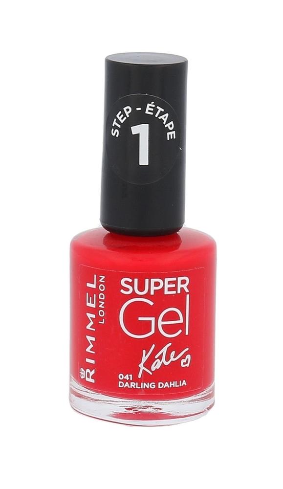 Rimmel London Super Gel By Kate Step1 Nail Polish 12ml 041 Darling Dahlia