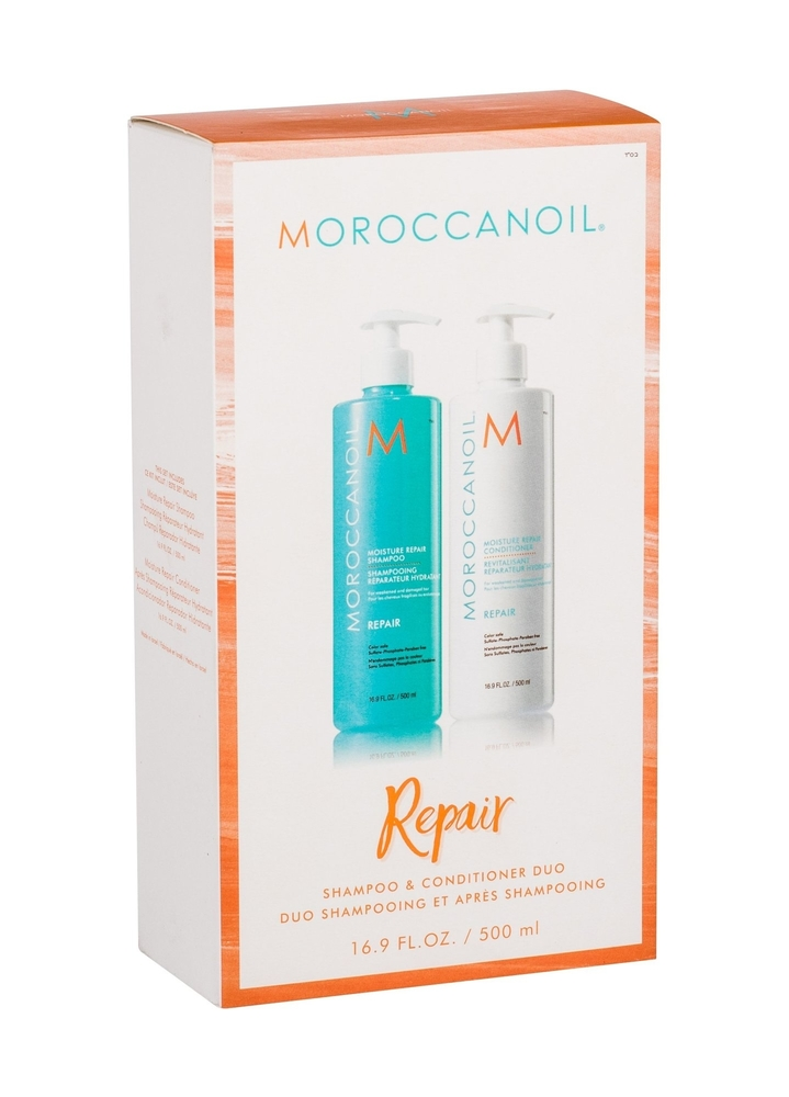 Moroccanoil Repair Shampoo 500ml - Set (Colored Hair - Damaged Hair)