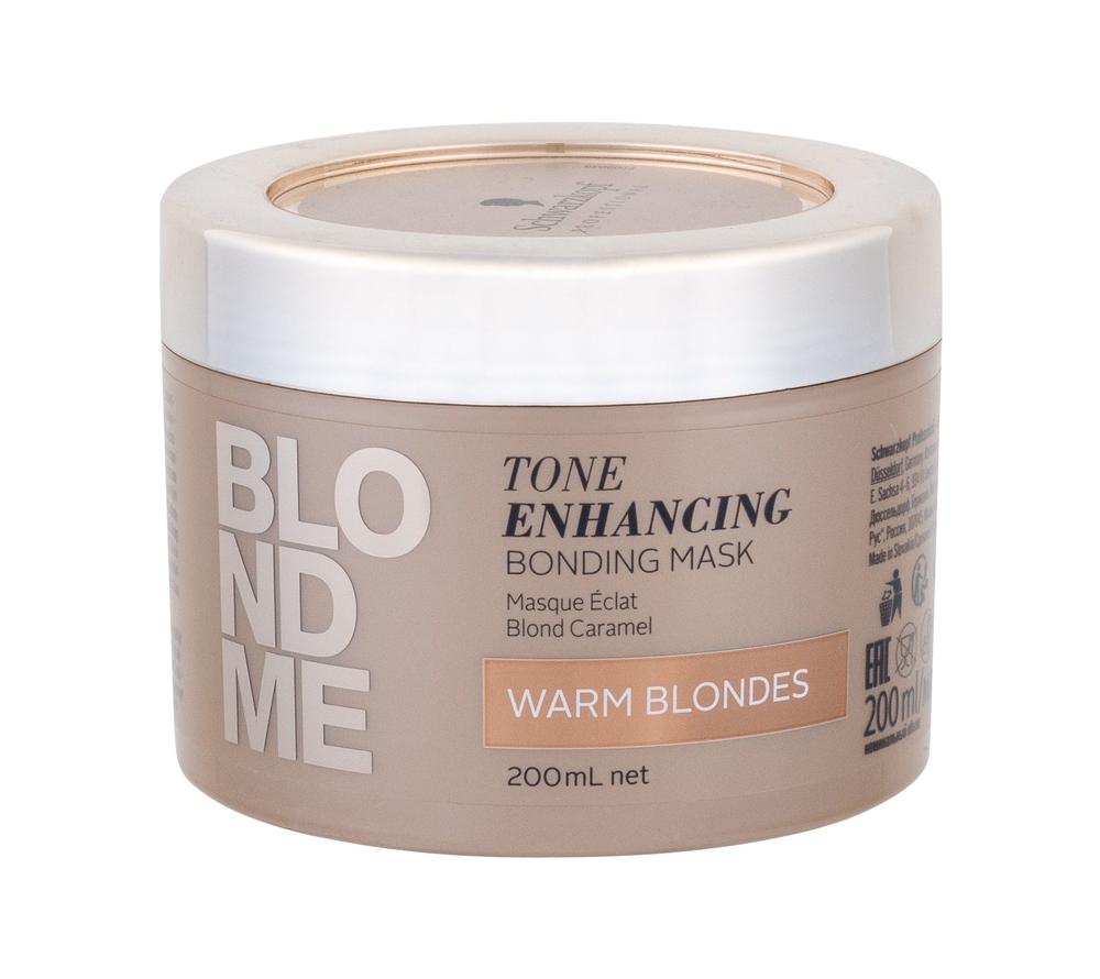 Schwarzkopf Blond Me Tone Enhancing Hair Mask 200ml Bonding Mask Warm Blondes (Blonde Hair)