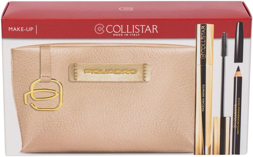 Collistar Infinito Mascara Extra Black 11ml Combo: Mascara 11 Ml + Eye Pencil 2 G Black + Cosmetic Bag Piquadro