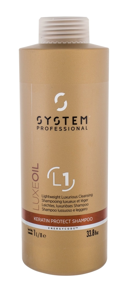 System Professional Luxe Oil Keratin Protect Shampoo 1000ml L1 (Weak Hair - Damaged Hair)