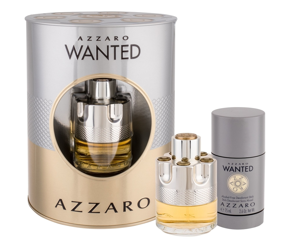 Azzaro Wanted Eau De Toilette 50ml Combo: Edt 50 Ml + Deostick 75 Ml