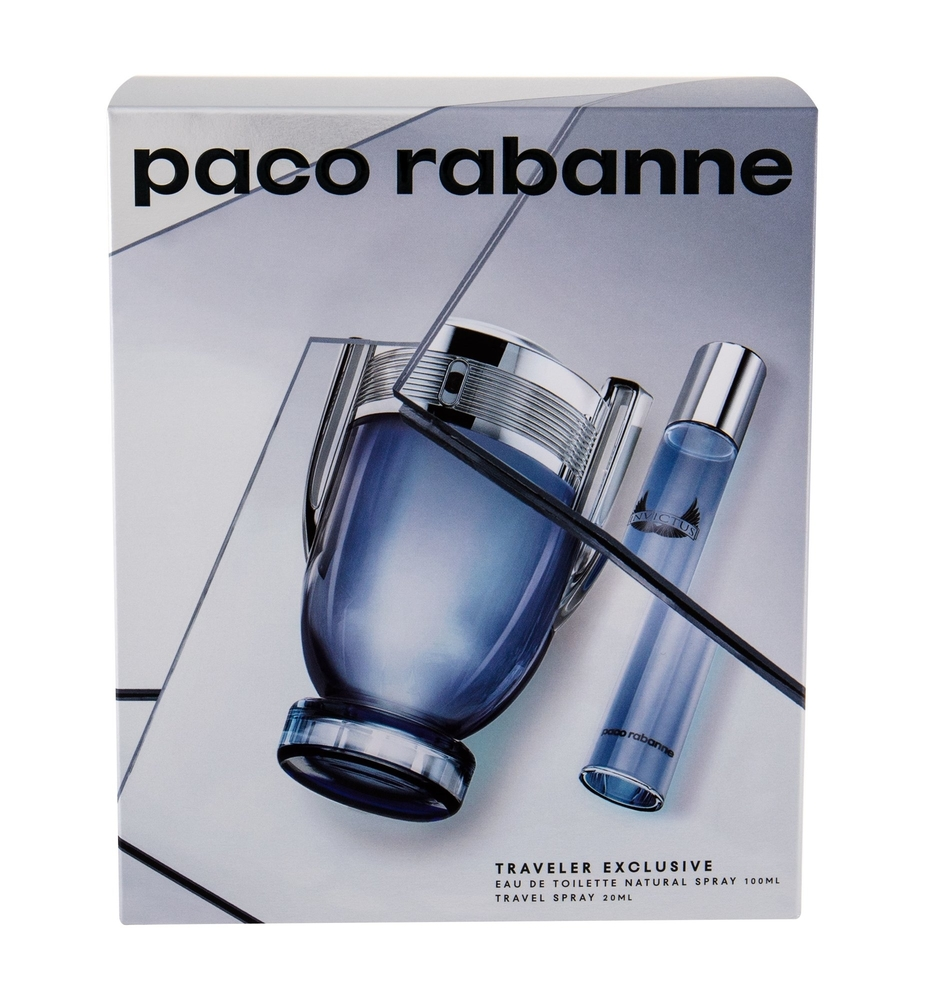 Paco Rabanne Invictus Eau De Toilette 100ml + Eau De Toilette 20ml