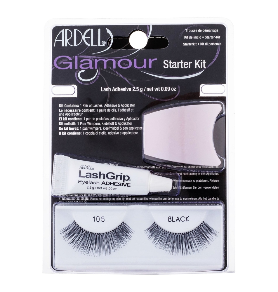Ardell Glamour 105 False Eyelashes 1pc Black