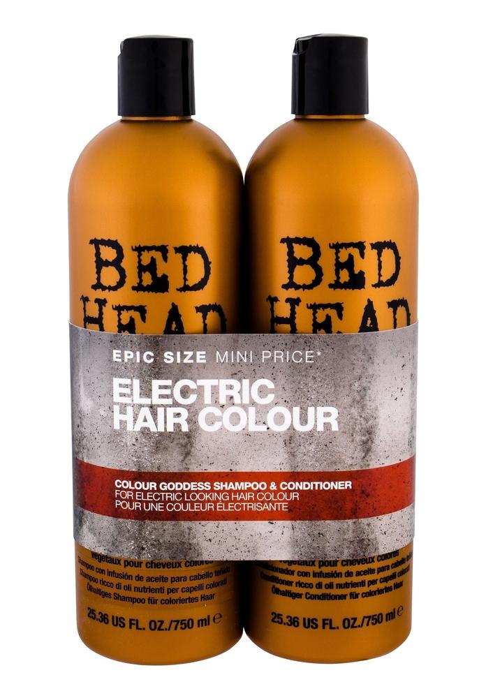 Tigi Bed Head Colour Goddess Shampoo 750ml Combo: 750ml Bed Head Colour Goddess Shampoo + 750ml Bed Head Colour Goddess Conditioner (Colored Hair)