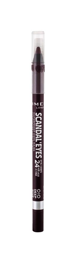 Rimmel London Scandal Eyes Kajal Eye Pencil 1,3gr Waterproof 24hr 010 Deep Wine