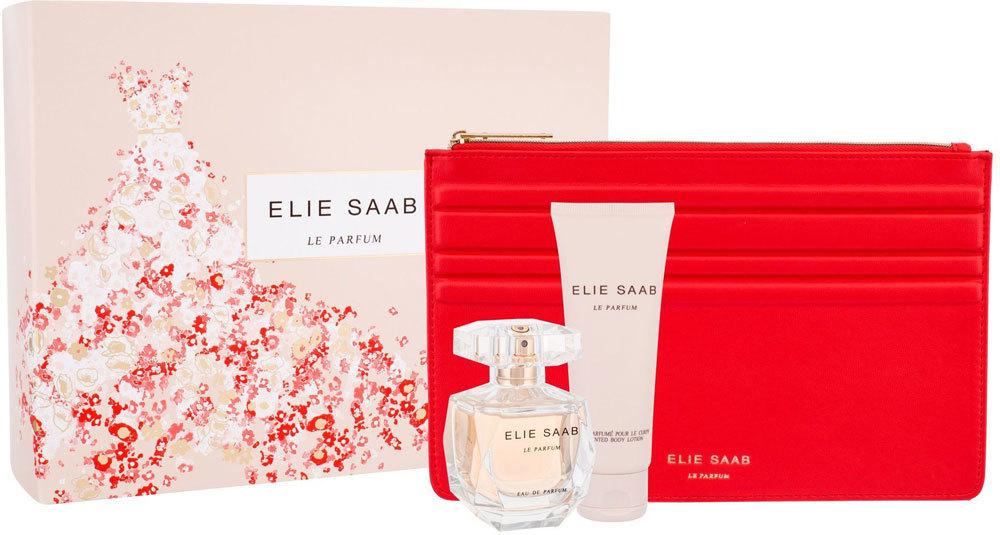 Elie Saab Le Parfum Eau de Parfum 50ml Combo: Edp 50ml + 75ml Body Lotion + Handbag (purse)