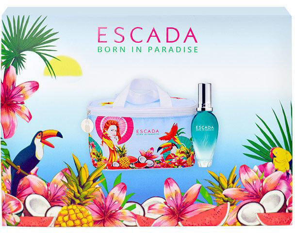 Escada Born in Paradise Eau de Toilette 30ml Combo: Edt 30ml + Cosmetic Bag
