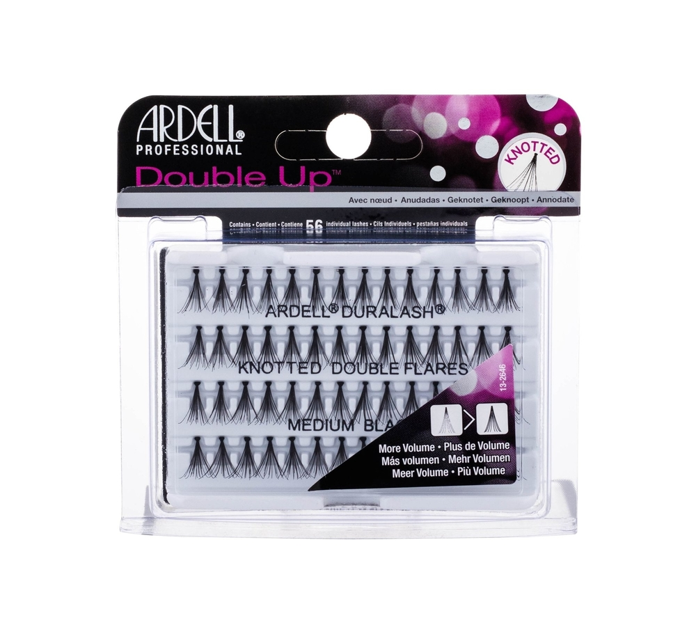 Ardell Double Up Knotted Double Flares False Eyelashes 56pc Medium Black