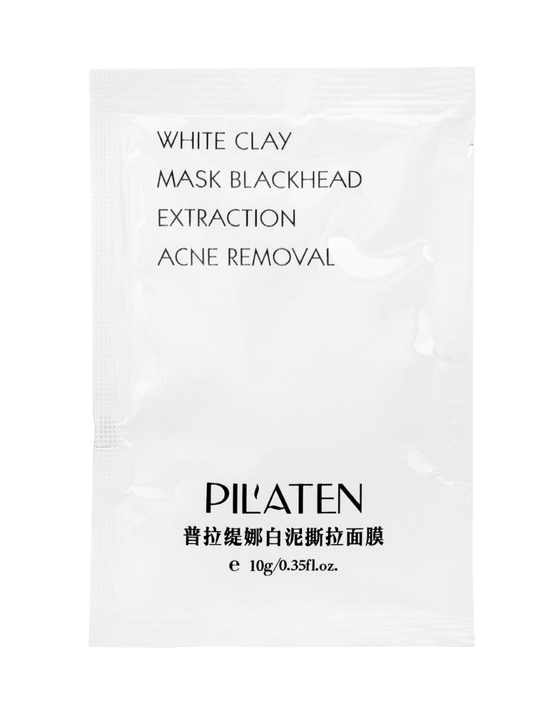 Pilaten White Clay Face Mask 10gr (All Skin Types - For All Ages) oμορφια   πρόσωπο   μάσκες ομορφιάς