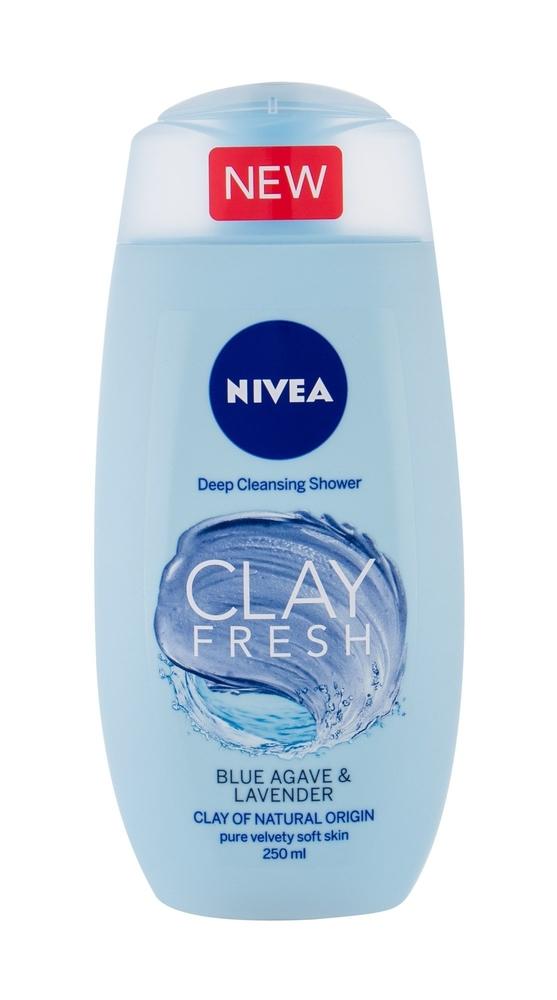 Nivea Clay Fresh Shower Gel 250ml Blue Agave Lavender