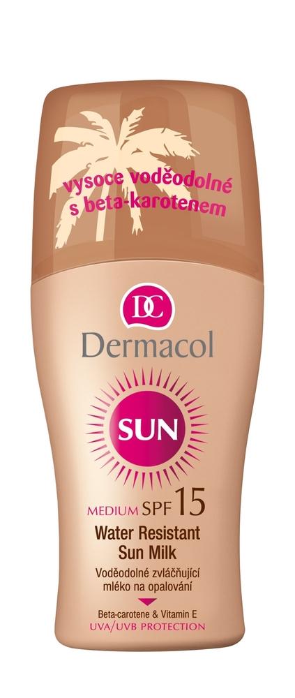 Dermacol Sun Milk Spray Spf15 Sun Body Lotion 200ml Waterproof oμορφια   αντηλιακή προστασία   αντηλιακά σώμα πρόσωπο   αντηλιακά