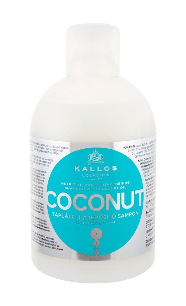 Kallos Cosmetics Coconut Shampoo 1000ml (Damaged Hair)