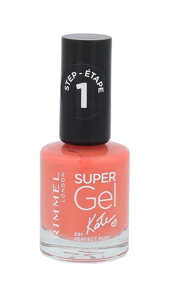 Rimmel London Super Gel By Kate Step1 Nail Polish 12ml 031 Perfect Posy