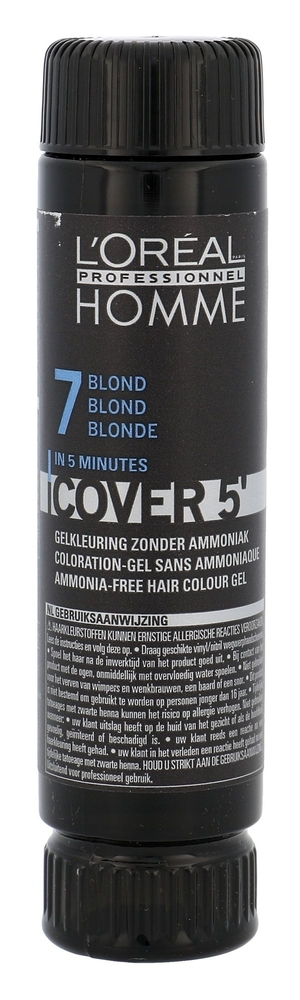 L/oreal Professionnel Homme Cover 5/ Hair Color 3x50ml 7 Medium Blond (Dry Hair)