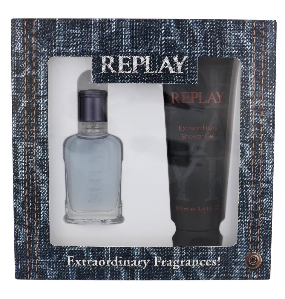 Replay Jeans Spirit! For Him Eau De Toilette 30ml Combo: Edt 30 Ml + Shower Gel 100 Ml