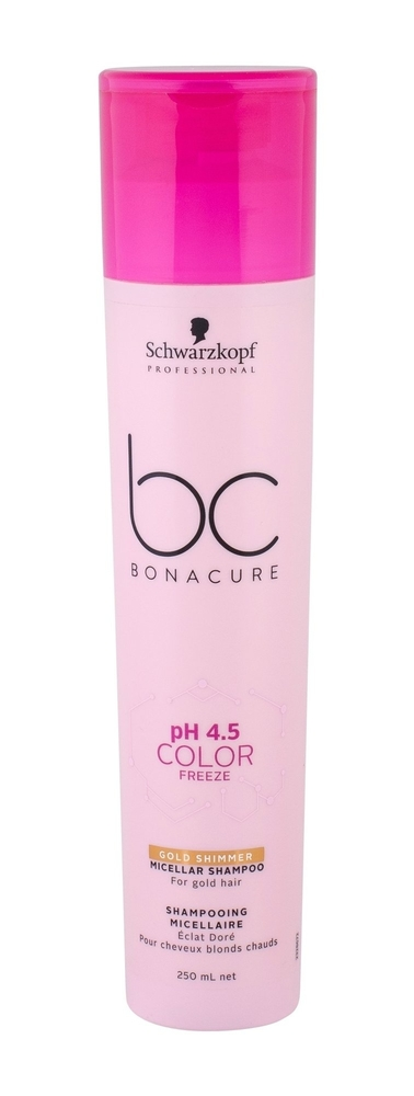Schwarzkopf Bc Bonacure Ph 4.5 Color Freeze Gold Shimmer Shampoo 250ml (Colored Hair)