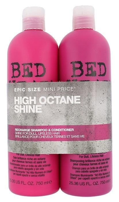 Tigi Bed Head Recharge High Octane Shampoo 750ml Combo: 750ml Bed Head Recharge High Octane Shampoo + 750ml Bed Head Recharge High Octane Conditioner (All Hair Types)