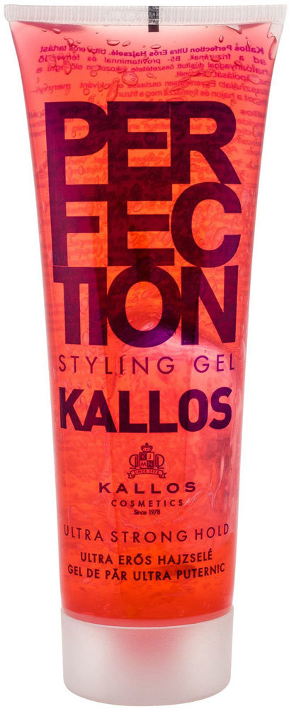Kallos Cosmetics Perfection Ultra Strong Hair Gel 250ml (Extra Strong Fixation)