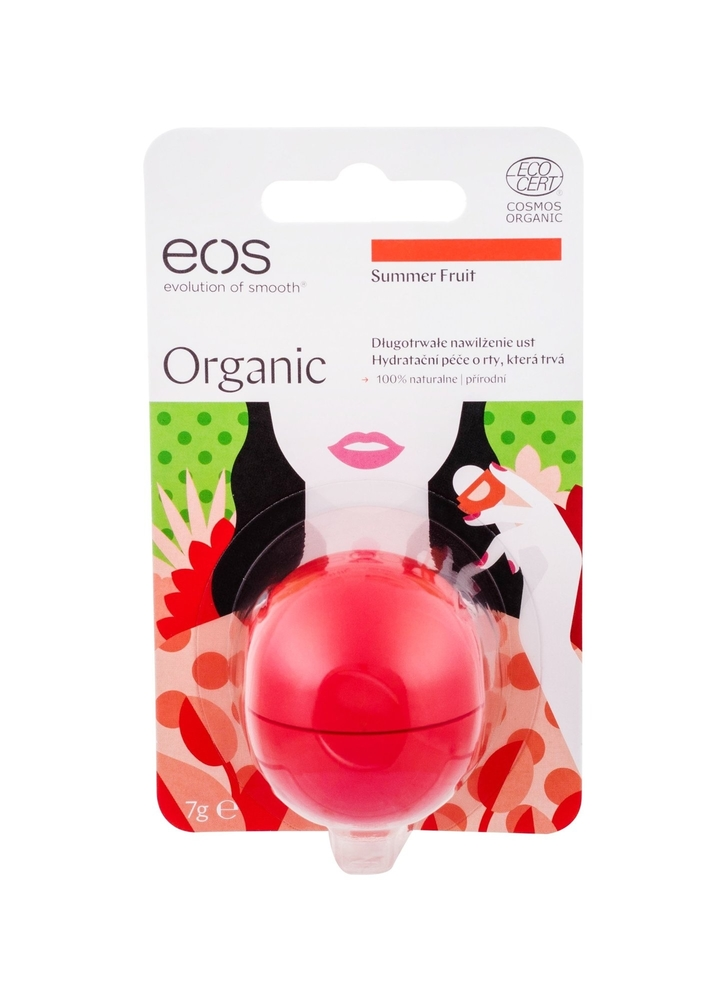 Eos Organic Lip Balm 7gr Summer Fruit (Bio Natural Product - For All Ages) oμορφια   μακιγιάζ   μακιγιάζ χειλιών   lip care