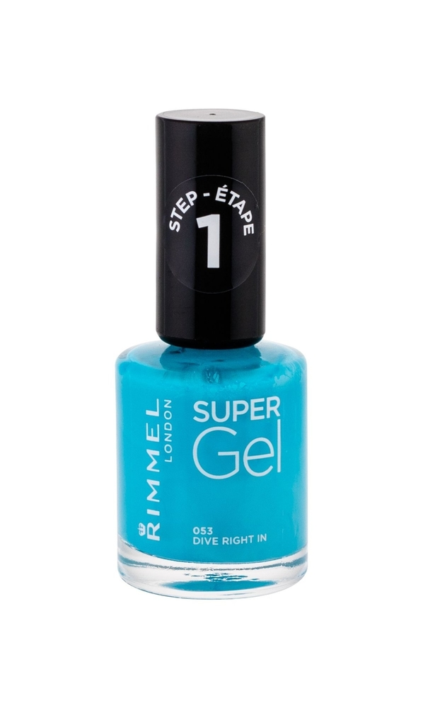 Rimmel London Super Gel Step1 Nail Polish 12ml 053 Dive Right In