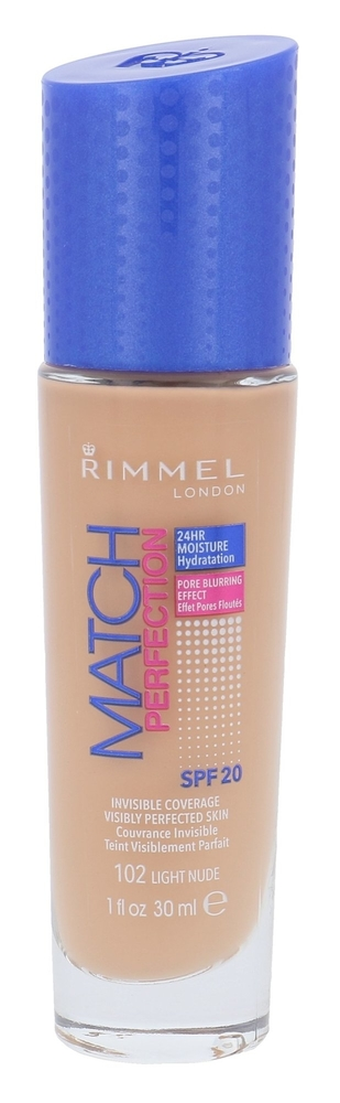 Rimmel London Match Perfection Spf20 Makeup 30ml 102 Light Nude