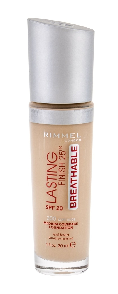 RIMMEL Lasting Finish 25HR Breathable SPF20 super trwaly podklad do twarzy 200 Soft Beige 30ml