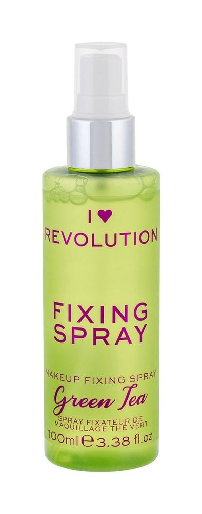 Makeup Revolution London I Heart Revolution Fixing Spray Make - Up Fixator 100ml Green Tea