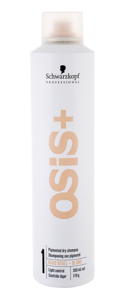 Schwarzkopf Osis+ Boho Rebel Dry Shampoo 300ml Blond (Blonde Hair - Oily Hair - All Hair Types)