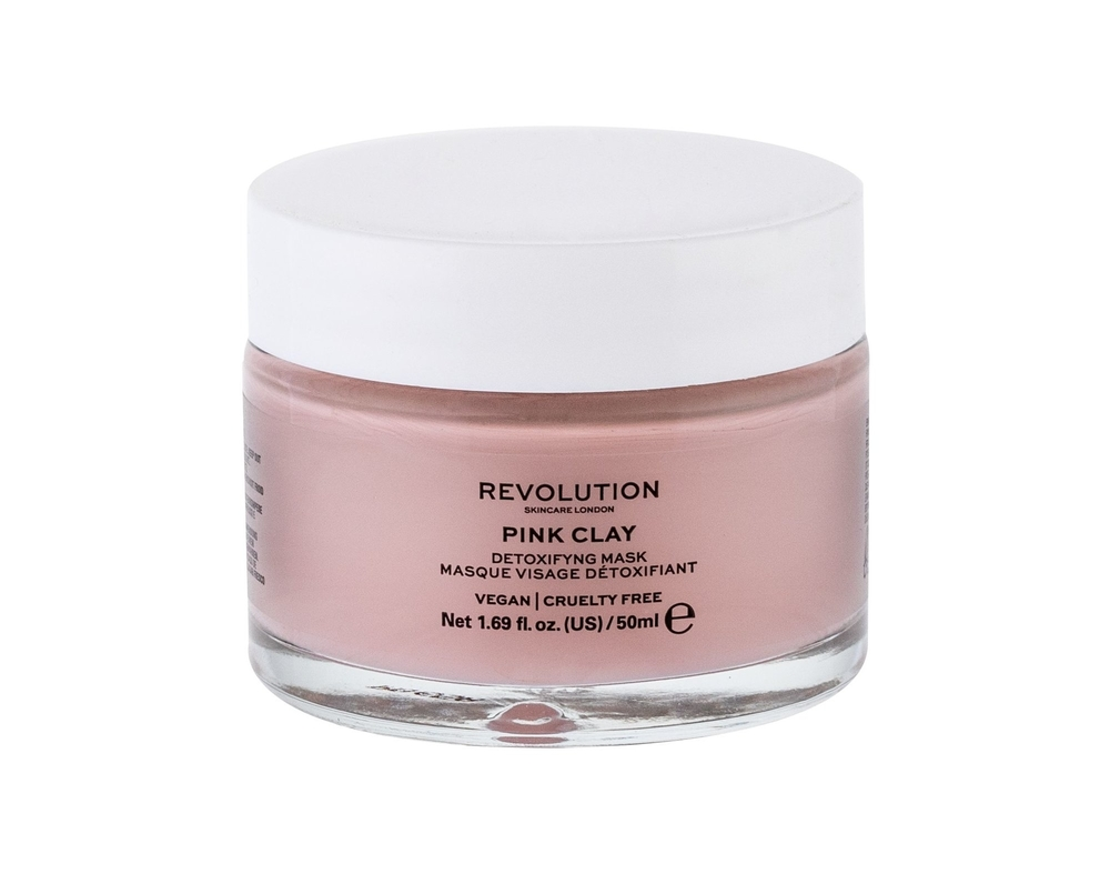 Makeup Revolution London Skincare Pink Clay Face Mask 50ml (All Skin Types - For All Ages)