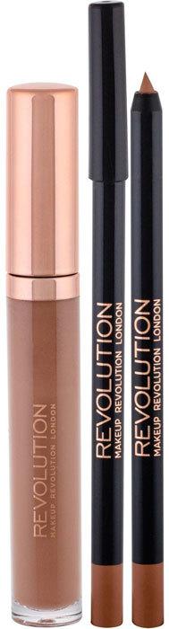 Makeup Revolution London Retro Luxe Gloss Lip Kit Lip Gloss Opulence 5,5ml Combo: Lip Gloss 5,5 Ml + Contour Pencil 1 G