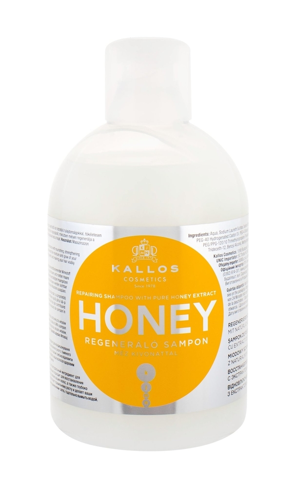 Kallos Cosmetics Honey Shampoo 1000ml (Damaged Hair - Dry Hair)