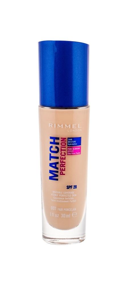 Rimmel London Match Perfection Spf20 Makeup 30ml 001 Fair Porcelain