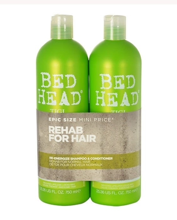 Tigi Bed Head Re-energize Shampoo 750ml Combo: 750ml Bed Head Re-energize Shampoo + 750ml Bed Head Re-energize Conditioner (Normal Hair)