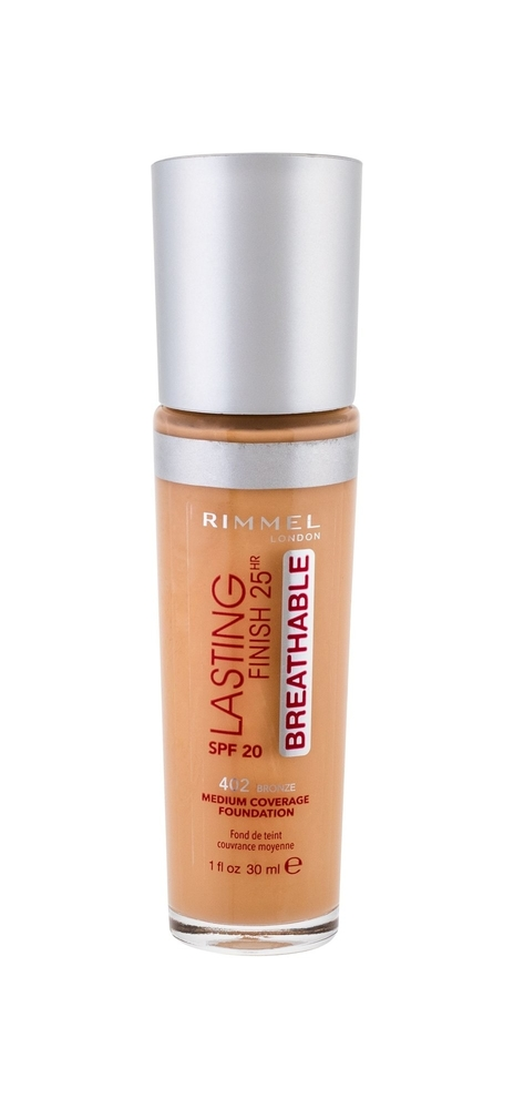 Rimmel London Lasting Finish Breathable Makeup 30ml 25hr Spf20 402 Bronze