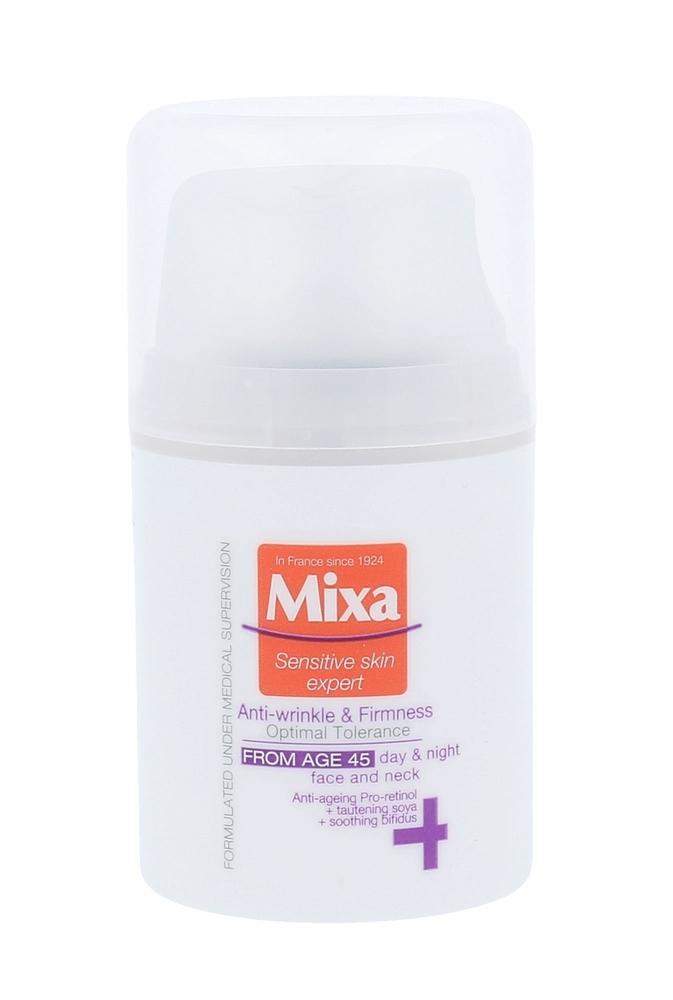 Mixa Optimal Tolerance Anti-wrinkle & Radiance Cream Day Cream 50ml 45+ (Wrinkles - All Skin Types)